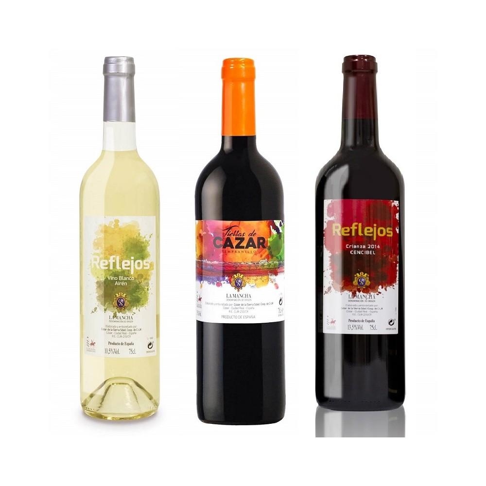 Pack 3 botellas selección Reflejos/Tierras de Cazar