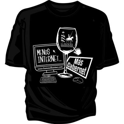 "Camiseta ""Menos internet,..."