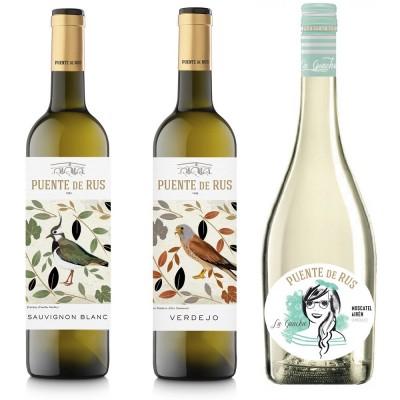 Pack 6 botellas de vino blanco Puente de Rus