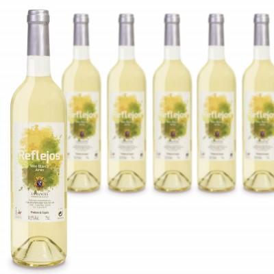 6 botellas Reflejos blanco Airén